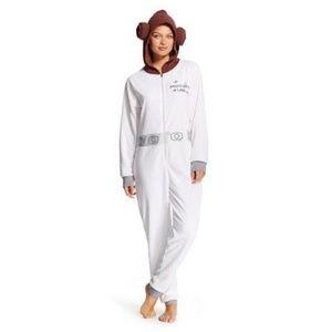 Princess Leia Flight Suit Onesie Fleece  L/XL